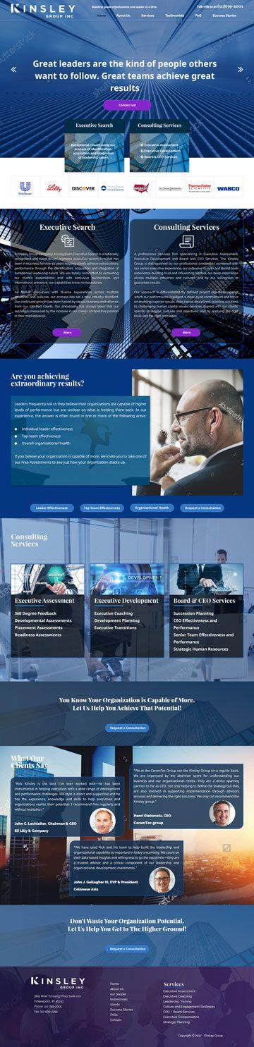 Kinsley-Group spletna stran