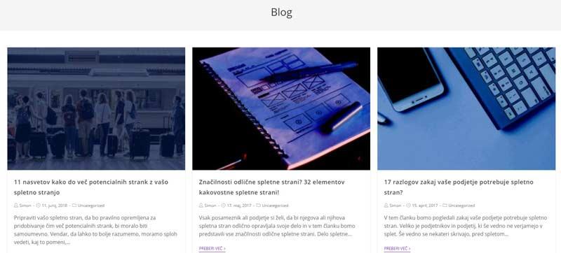 Blog vsebina