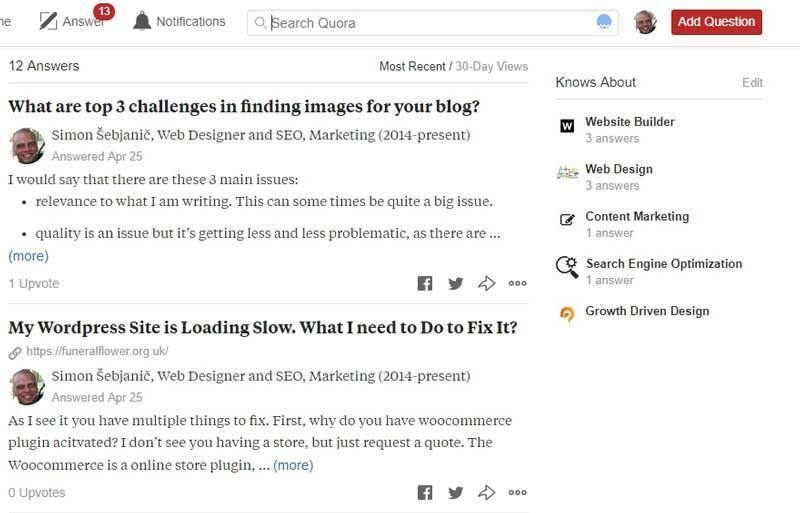 Odgovarjajte na vprašanja na Quori