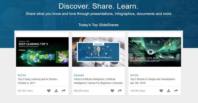 SlideShare predstavitev