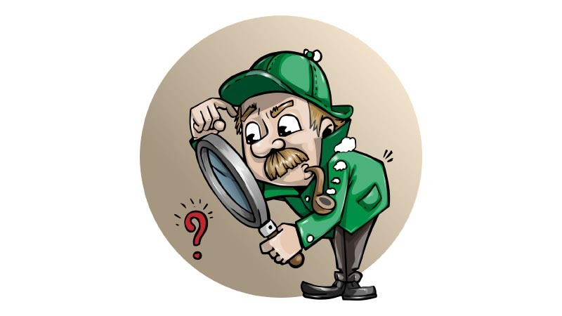 Raziscite svojo tematiko kot detektiv raziskuje sledi